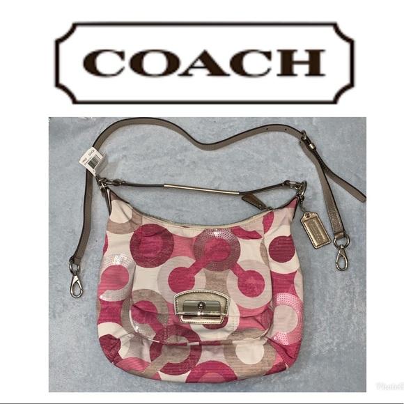 Coach Handbags - NWT Coach Rare opt art sequin shoulder bag